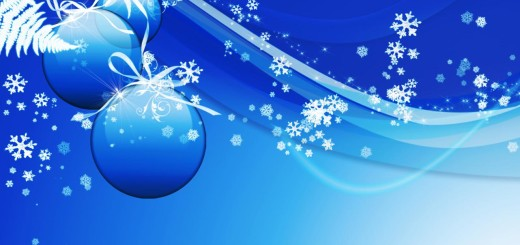Blue christmas powerpoint background