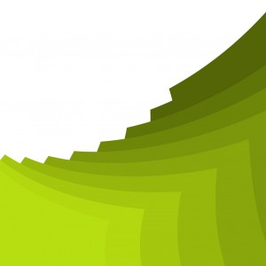 abstract green stacking ppt