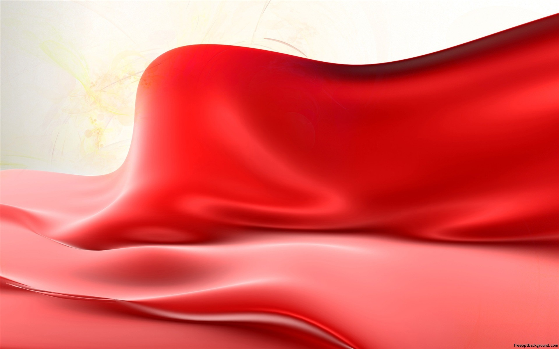 liquid red wave free ppt backgrounds