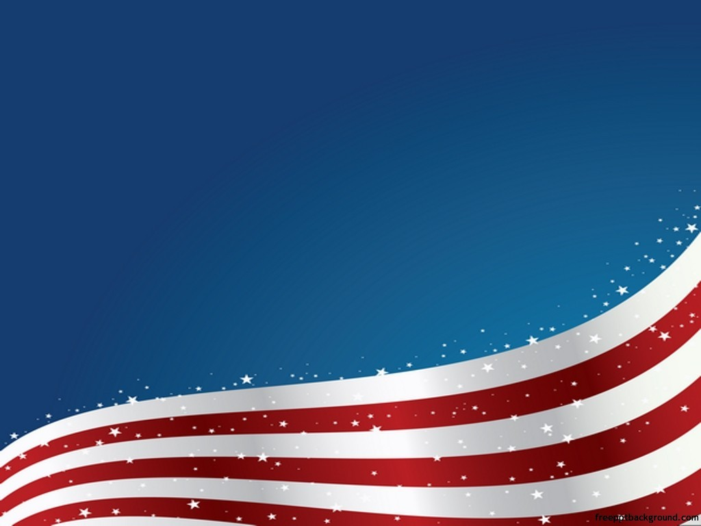 united states flag wave design free ppt backgrounds