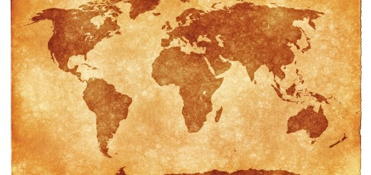 world grunge map texture powerpoint