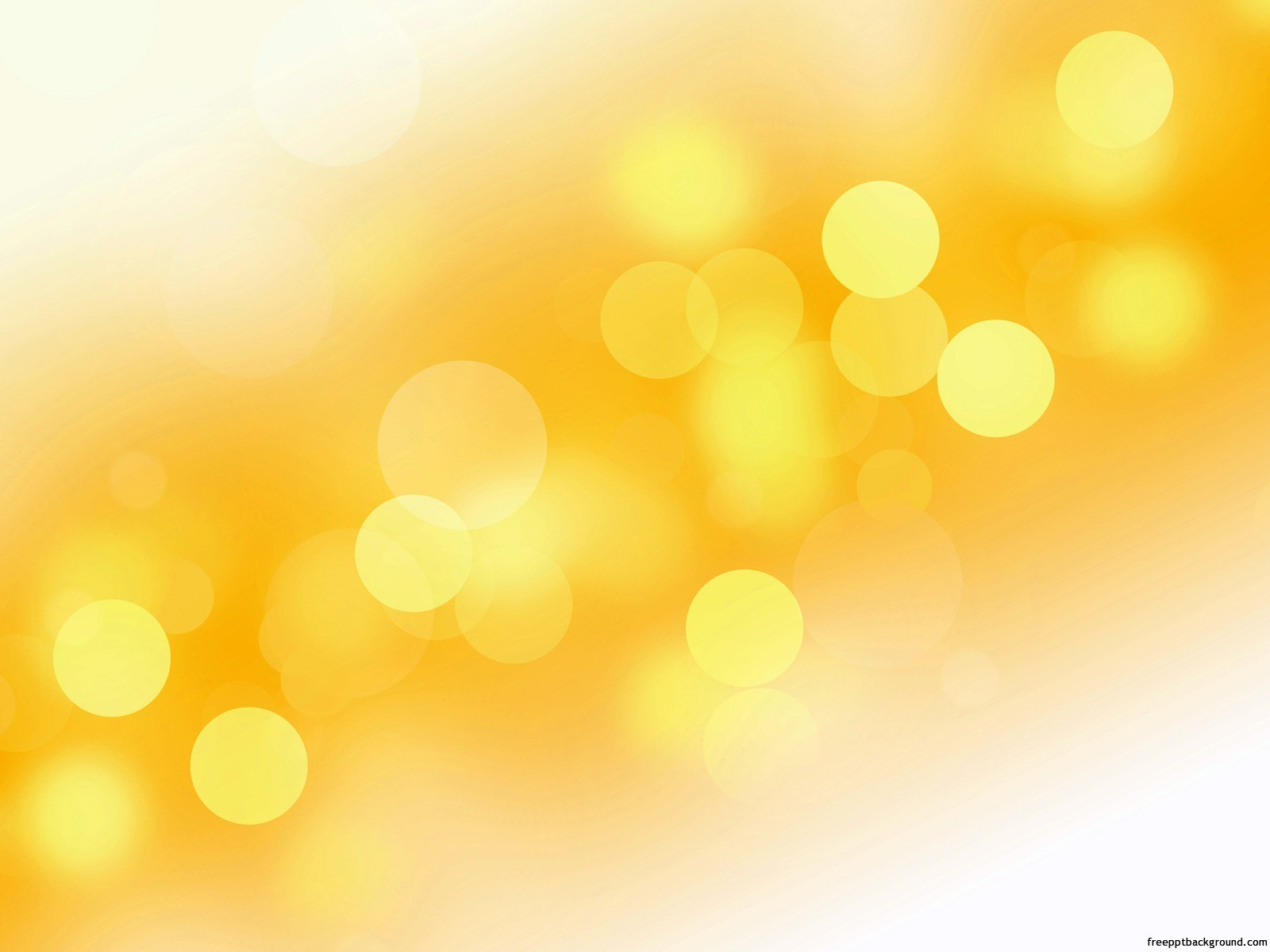gradient yellow orange white bubbles abstract free ppt backgrounds