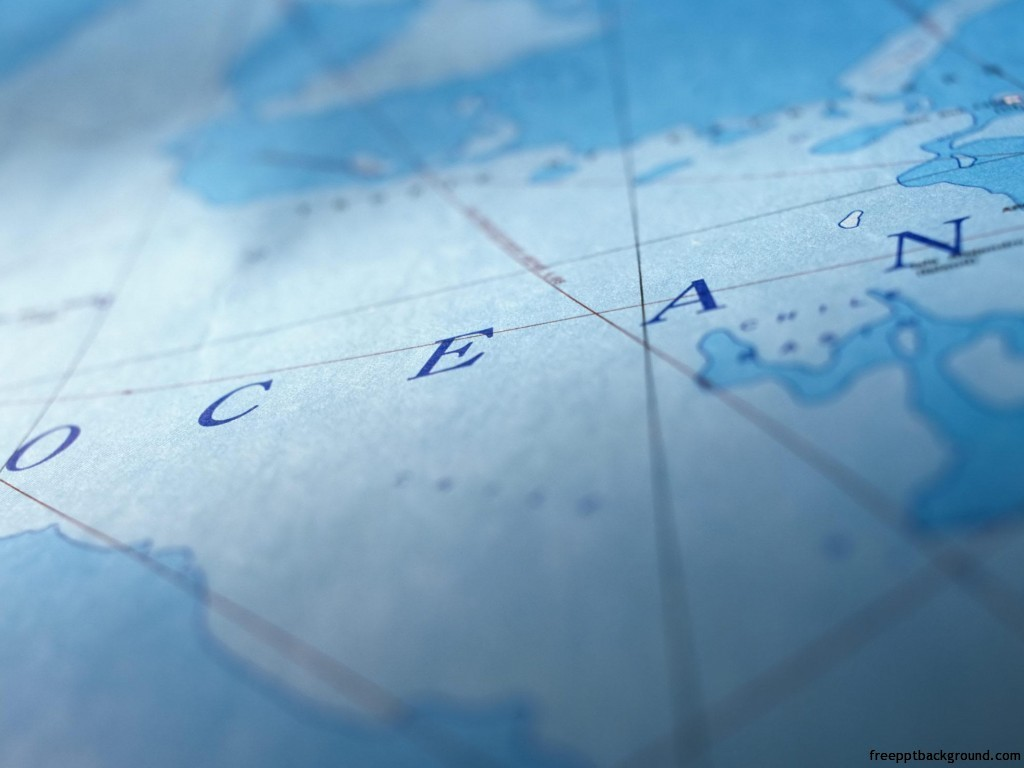 ocean map blue template free ppt backgrounds