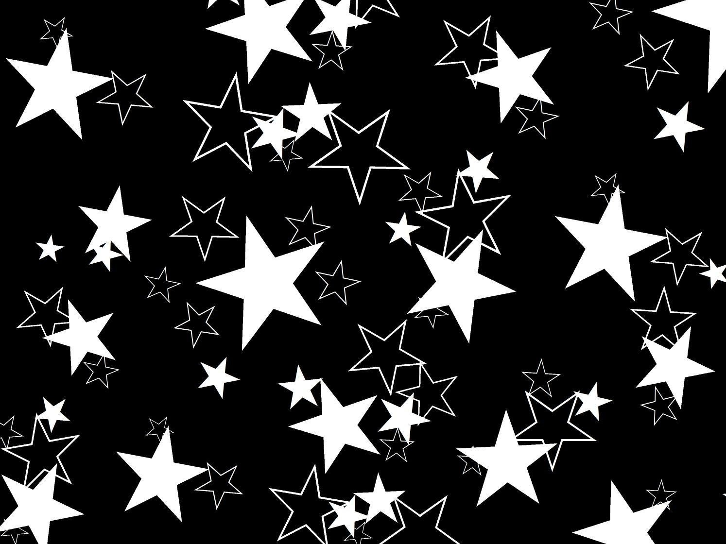 Black Stars Pattern Free Power Point Templates