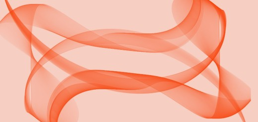 abstract orange wavy design