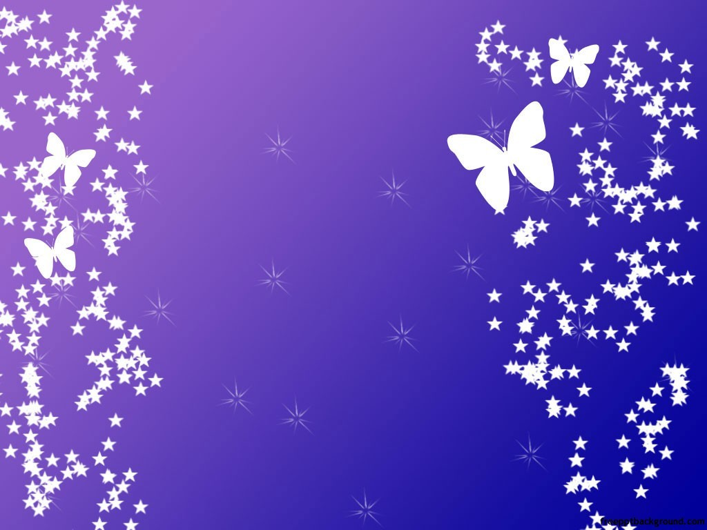 Purple Background With Butterflies Free Ppt Backgrounds