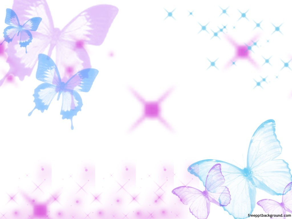 cute butterflies template – free ppt backgrounds, Powerpoint templates