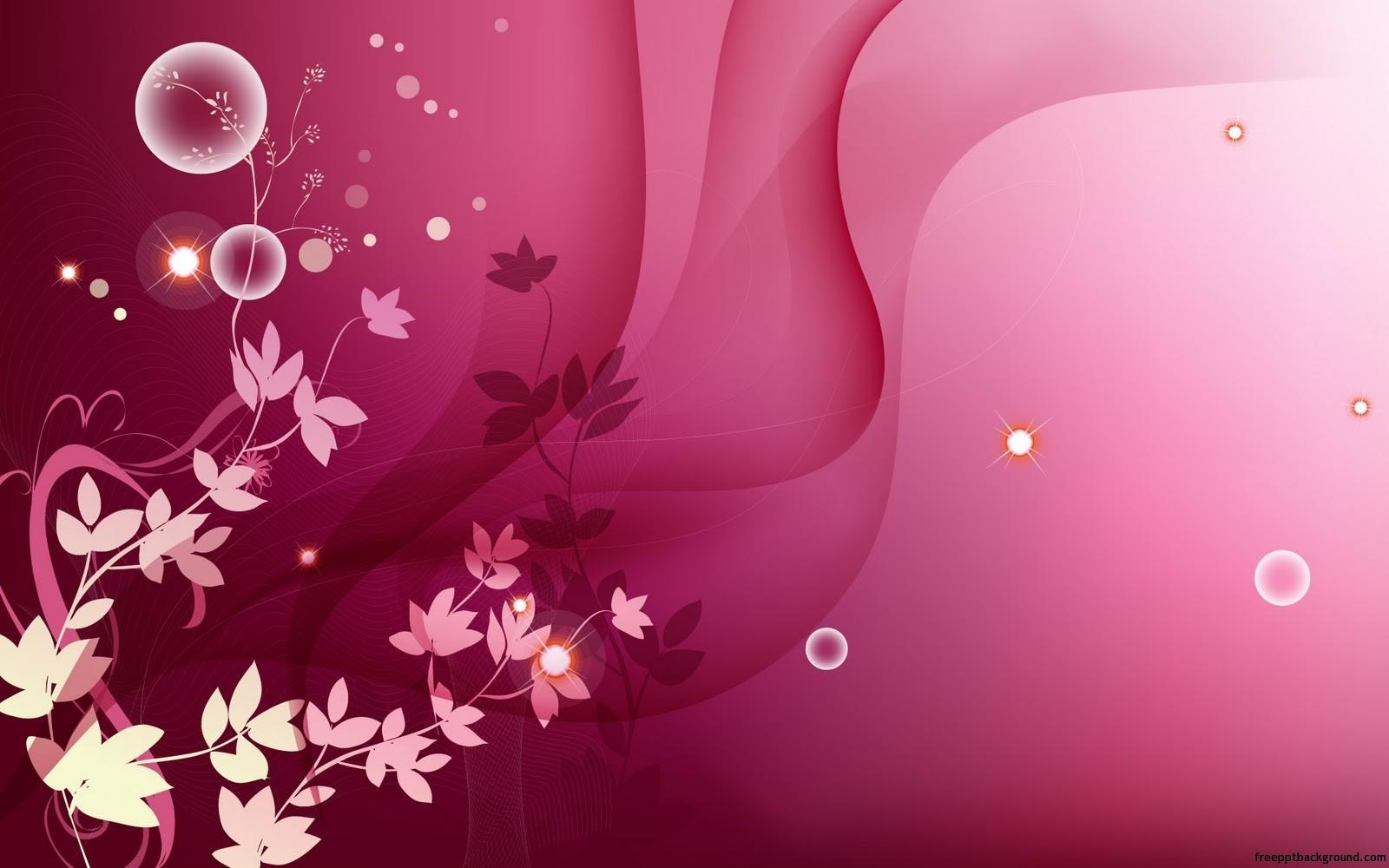 Floral Pink Design Free Ppt Backgrounds