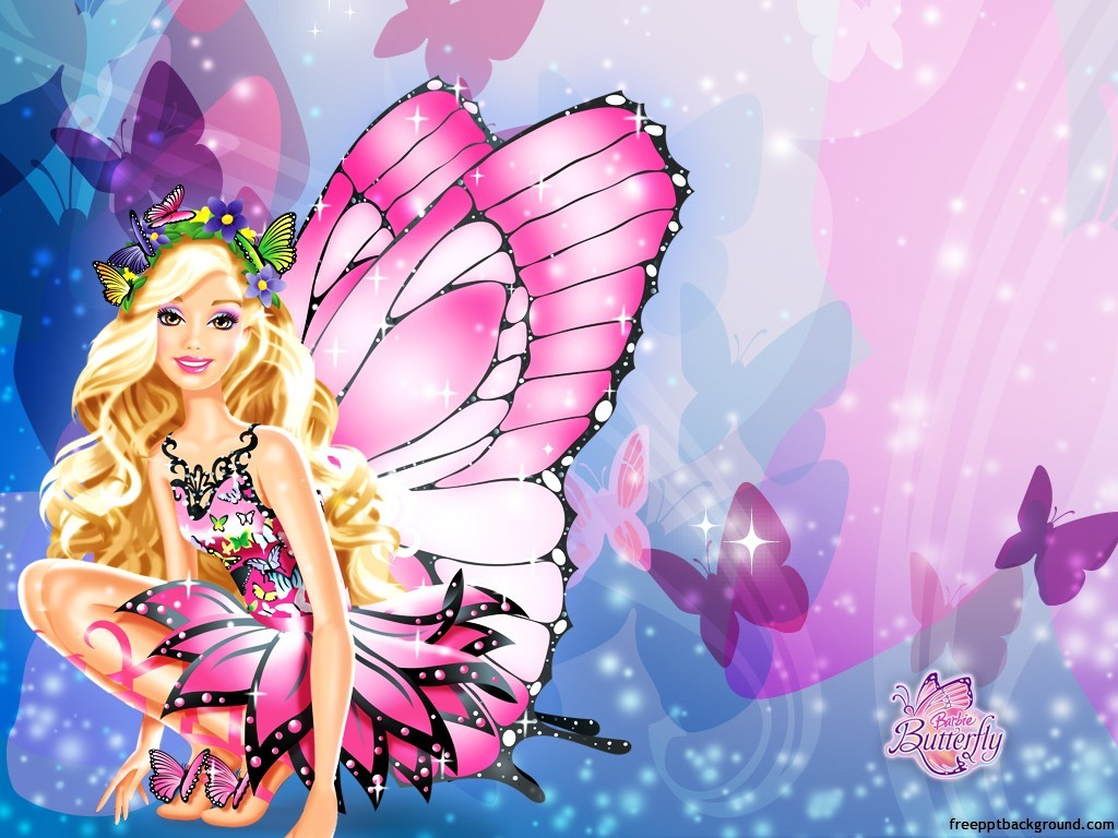 Barbies Cute Design Free Ppt Backgrounds