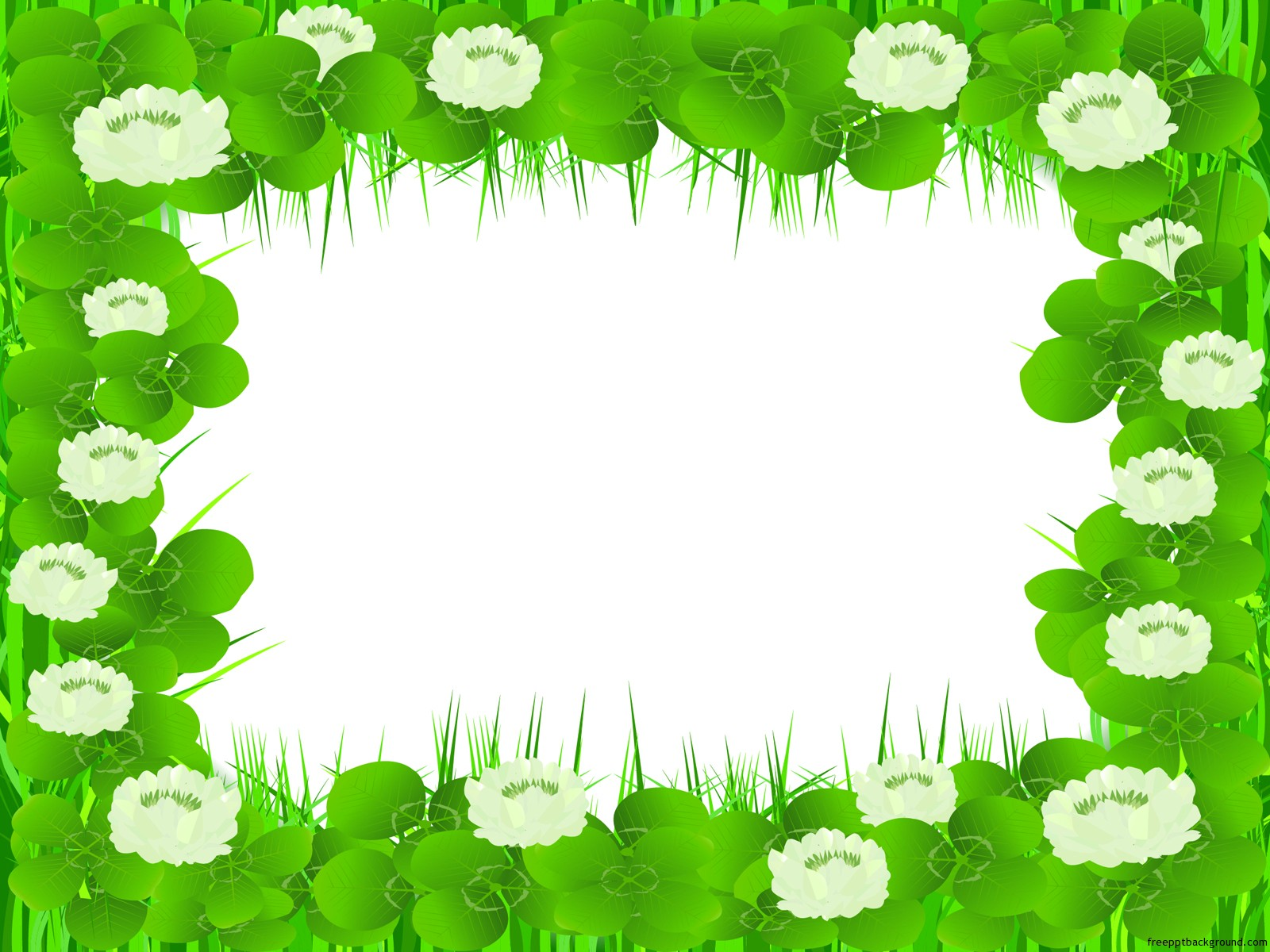 Beautiful Floral Frame Free Ppt Backgrounds
